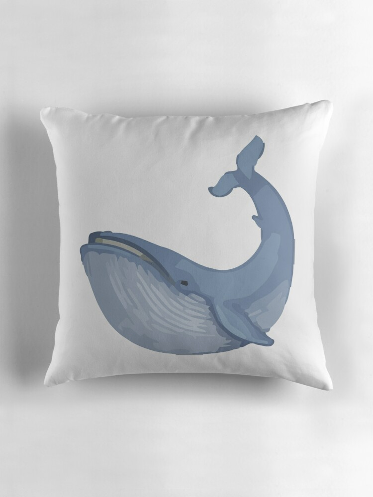 Quot Whale Emoji Quot Throw Pillows By Riemann Redbubble