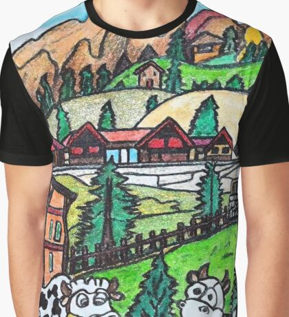 Tyroler Cows Graphic T-Shirt