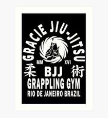 Gracie Jiu Jitsu Art Print