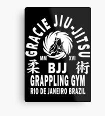 Gracie Jiu Jitsu Metal Print
