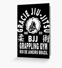 Gracie Jiu Jitsu Greeting Card