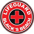 LIFEGUARD BLACK'S BEACH SAN DIEGO SURFING CALIFORNIA SURFING BEACH SURFBOARD by MyHandmadeSigns