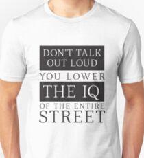 Don't Talk Out Loud Sherlock Holmes Design T-Shirt