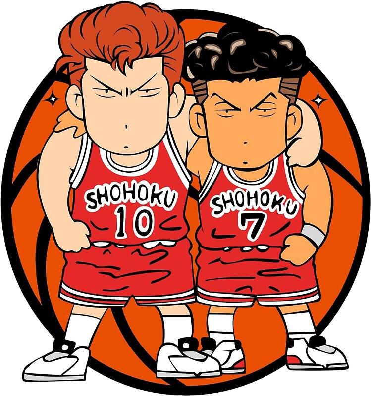 """Slam Dunk Chibi Basket Design"" Stickers By Thisisloicx"
