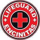 LIFEGUARD ENCINITAS SURFING CALIFORNIA SURFER BEACH SURFBOARD by MyHandmadeSigns