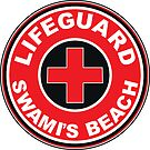 LIFEGUARD SWAMI'S BEACH ENCINITAS SURFING CALIFORNIA SURFER BEACH SURFBOARD SWAMIS SAN DIEGO by MyHandmadeSigns