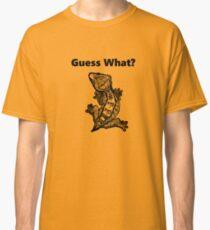 "Camiseta clásica Crested Gecko ""¿Adivina qué? Frog Butt"""