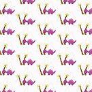 Dinamic Girls Collection - Purple Dinosaur Girl with Palm Trees by Amanda Voris