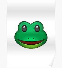 Frog Face Emoji Poster