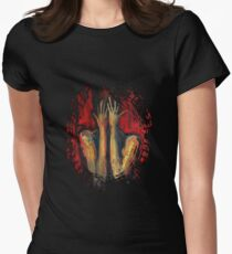 Lost In Red - Rigged Womens Fitted T-Shirt