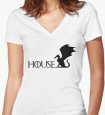 Game of Thrones - Targaryen Women's Fitted V-Neck T-Shirt