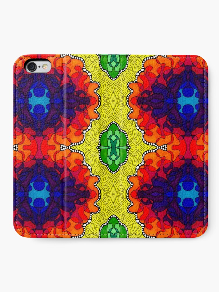Alternate view of Psychedelic Abstract colourful work S7(Tile) iPhone Wallet