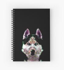 Fractal Husky Spiral Notebook