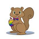 Pride Squirrel by Catherine Dair