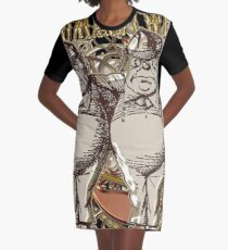 Tweedledum & Tweedledee Carnivale Style - Gold Version Graphic T-Shirt Dress