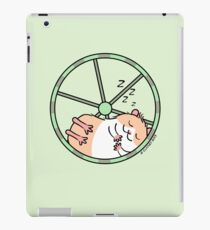 Hamster Sleeping in Exercise Wheel iPad Case/Skin