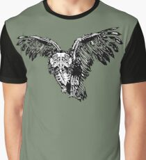 Skeletowl BW Graphic T-Shirt