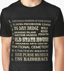Little Rock Arkansas Famous Landmarks Graphic T-Shirt
