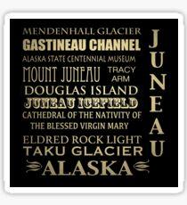 Juneau Alaska Famous Landmarks Sticker