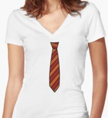 Potter-Tie Women's Fitted V-Neck T-Shirt