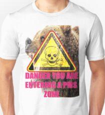 Warning PMS Zone Ahead Unisex T-Shirt