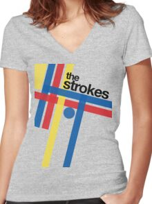 THE STROKES GOV BALL Women's Fitted V-Neck T-Shirt