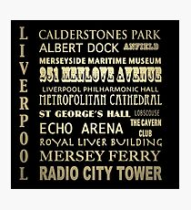 Liverpool Famous Landmarks Photographic Print
