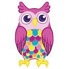 Big Colorful Owl by Veronica Guzzardi