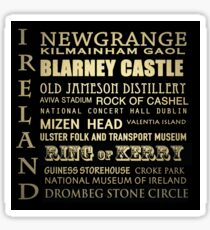 Ireland Famous Landmarks Sticker