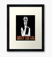 Karate Kid: Sweep the Leg! Framed Print