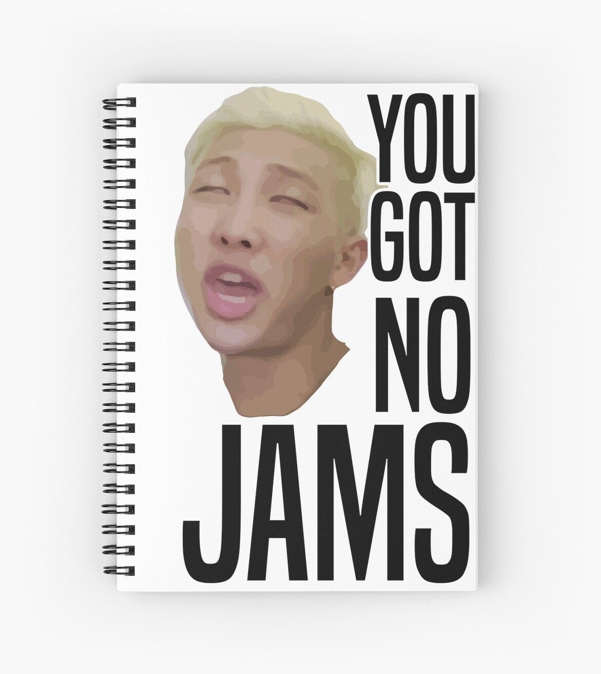 Designer Wall Stickers Quot You Got No Jams Bts Quot Spiral Notebooks By