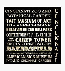 Cincinnati Ohio Famous Landmarks Photographic Print