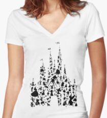Happiest Castle On Earth Women's Fitted V-Neck T-Shirt