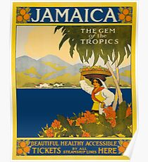 Jamaica The Gem Of The Tropics Vintage Travel Poster Poster