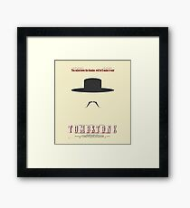 You Called Down the Thunder Tombstone Wyatt Earp Framed Print