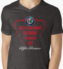 Life is too short to drive a boring car - Alfa Men's V-Neck T-Shirt