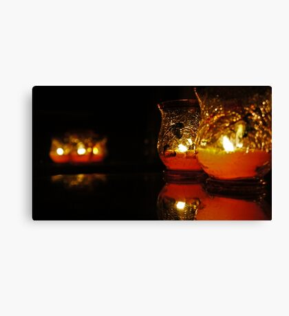 Autumn Candle Light Canvas Print