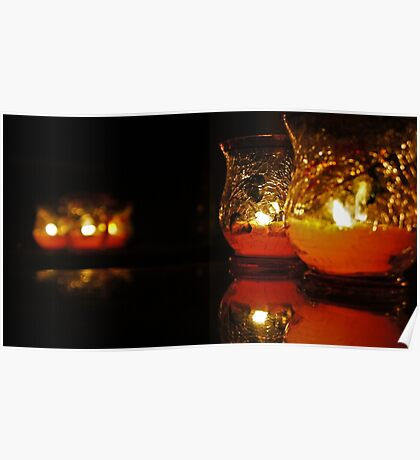 Autumn Candle Light Poster