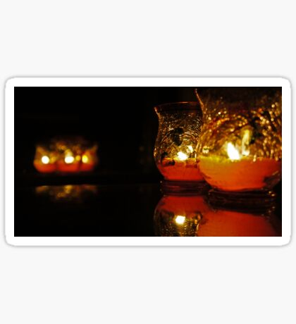 Autumn Candle Light Sticker
