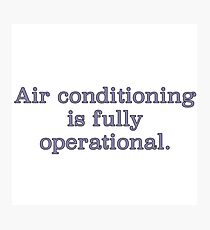 Air Conditioning Photographic Print