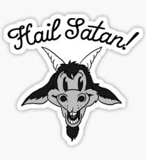 Hail Satan! Baphomet Cartoon Sticker