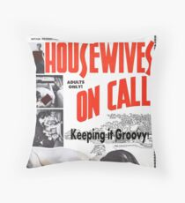 Housewives on Call Retro 50's Movie Throw Pillow