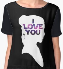 Star Wars Leia 'I Love You' White Silhouette Couple Tee Chiffon Top