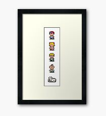 Earthbound - Characters Framed Print