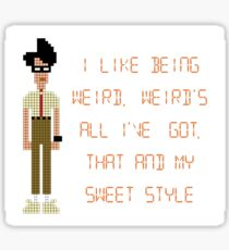 The IT Crowd – I Like Being Weird Sticker