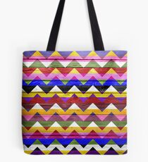 Chevron Zigzag Pattern on Wood Texture #2 Tote Bag