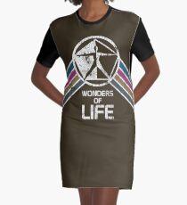 Wunder des Lebens Logo in Vintage Distressed Style T-Shirt Kleid