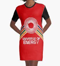 Universum der Energie-Logo in Vintage-Distressed-Stil T-Shirt Kleid