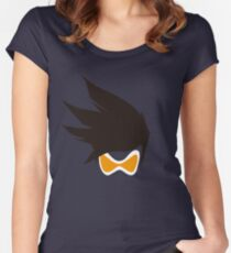 Tracer Hair and Goggles Vector Women's Fitted Scoop T-Shirt