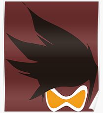 Tracer Hair and Goggles Vector Poster